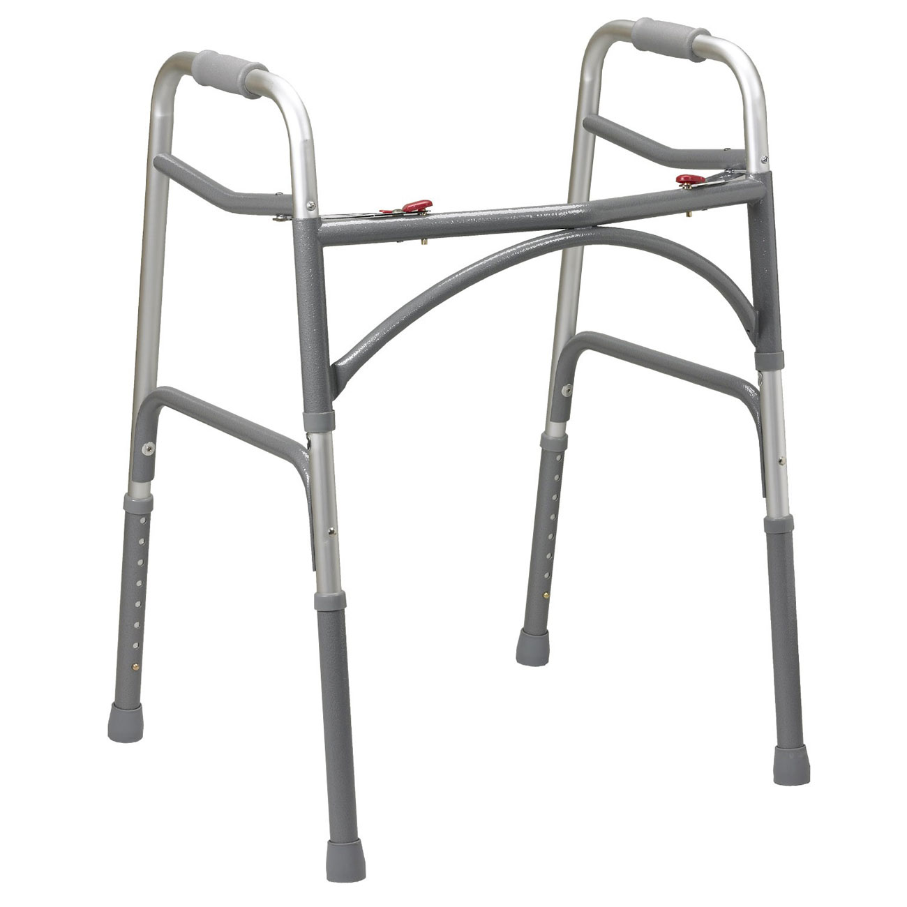Oversized Aluminum Folding Walker - 2 Button-Adult