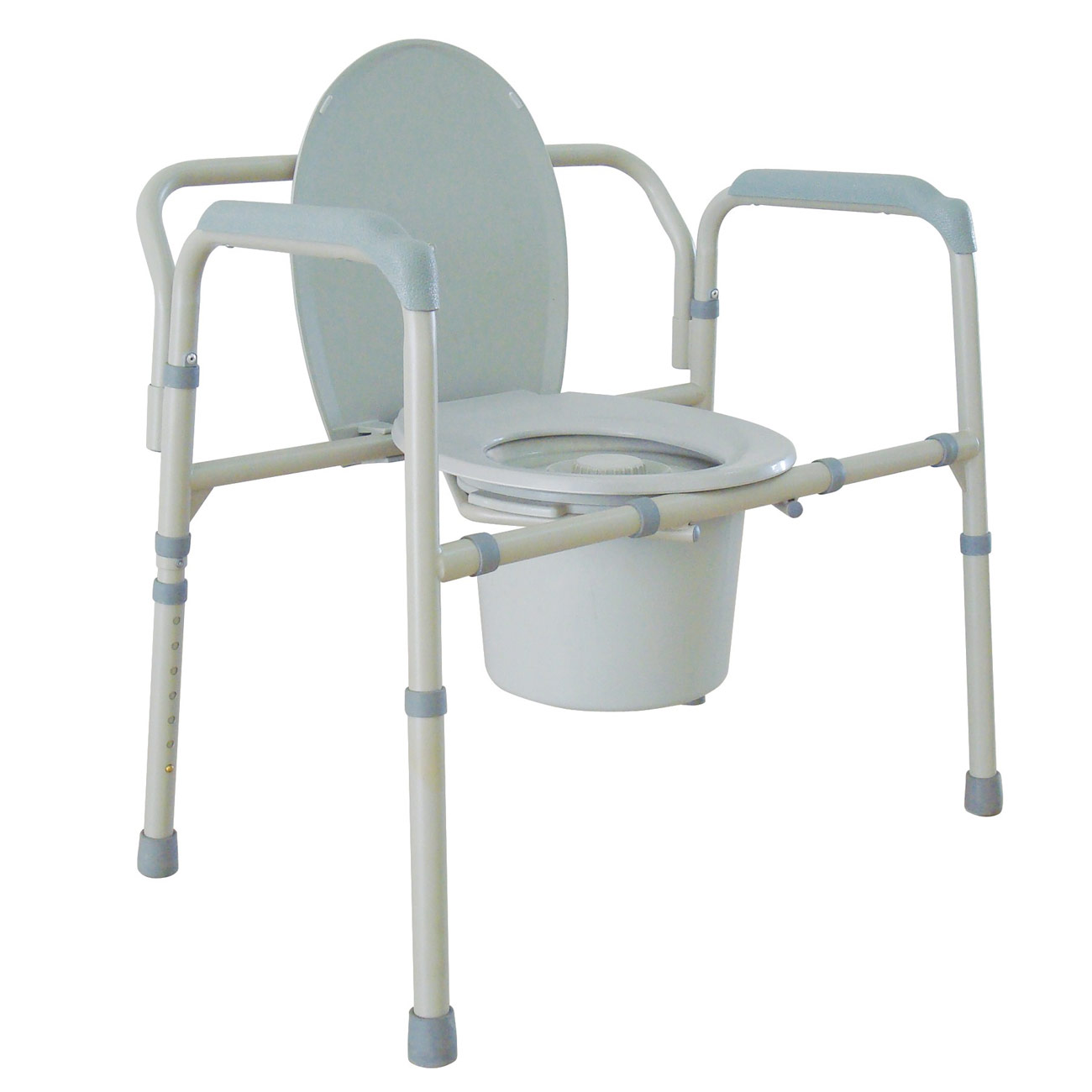 Extra Wide All-in-one Steel Commode -up to 500 lbs