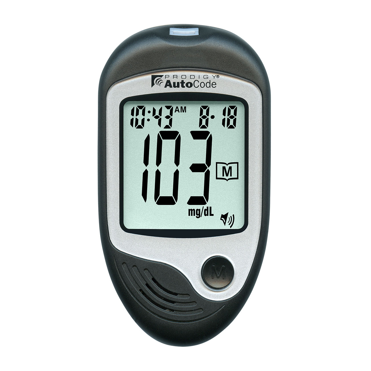 Prodigy AutoCode Talking Blood Glucose Monitoring Kit- Bilingual - English or Spanish