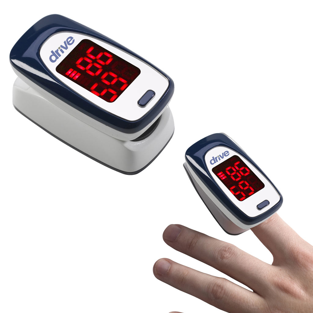 Health-OX Clip Style Fingertip Pulse Oximeter with LCD Screen