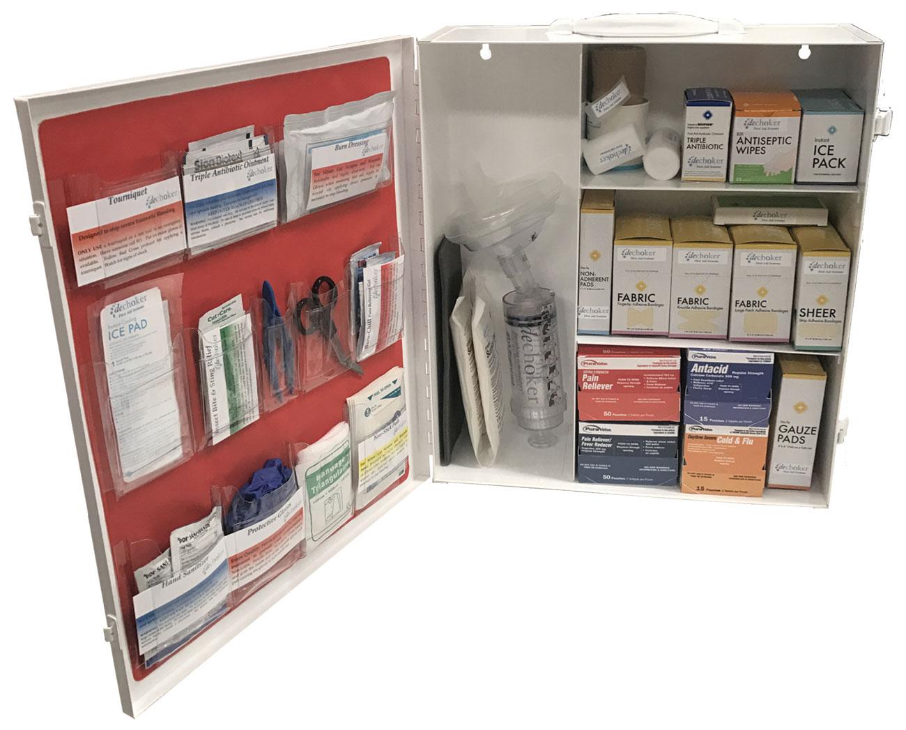 Dechoker Industrial First Aid + Choking Aid Kit