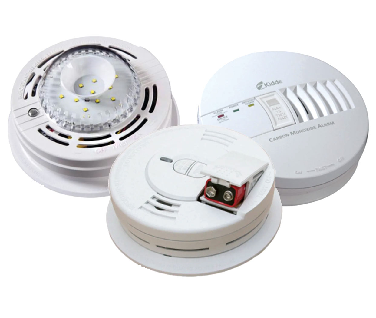 Kidde Carbon Monoxide and Smoke Alarms with Strobe Light