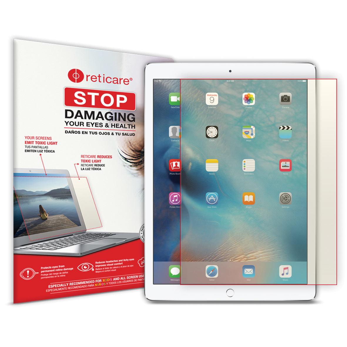 Reticare iPad 9.7 Air 2 Eye+Screen Blue Light Protector -Visual Screen