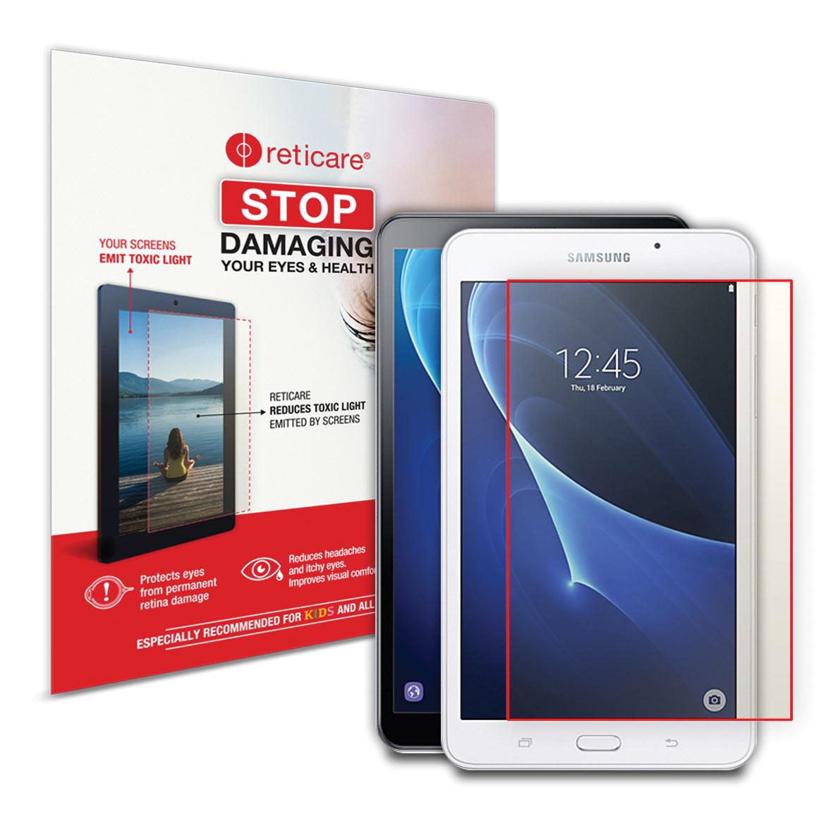 Reticare Galaxy Tab A + Fire HD 10 Eye+Screen Blue Light Protector