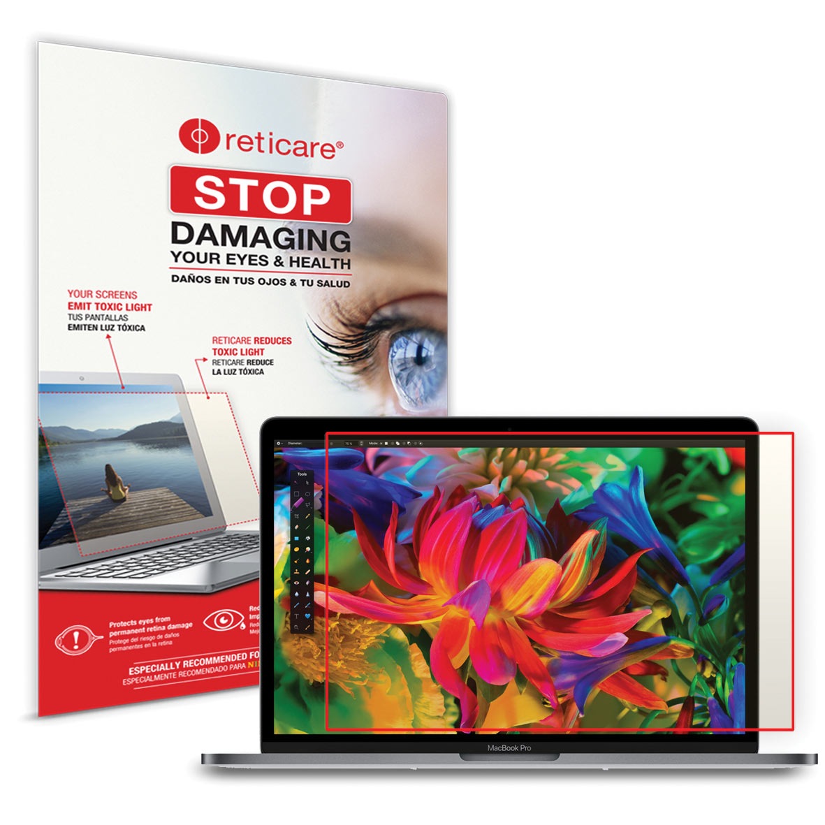 Reticare MacBook Pro and Air 13-inch Eye+Screen Blue Light Protector