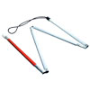 Gripless EZ ID Folding 4-Section Cane - 60 inches