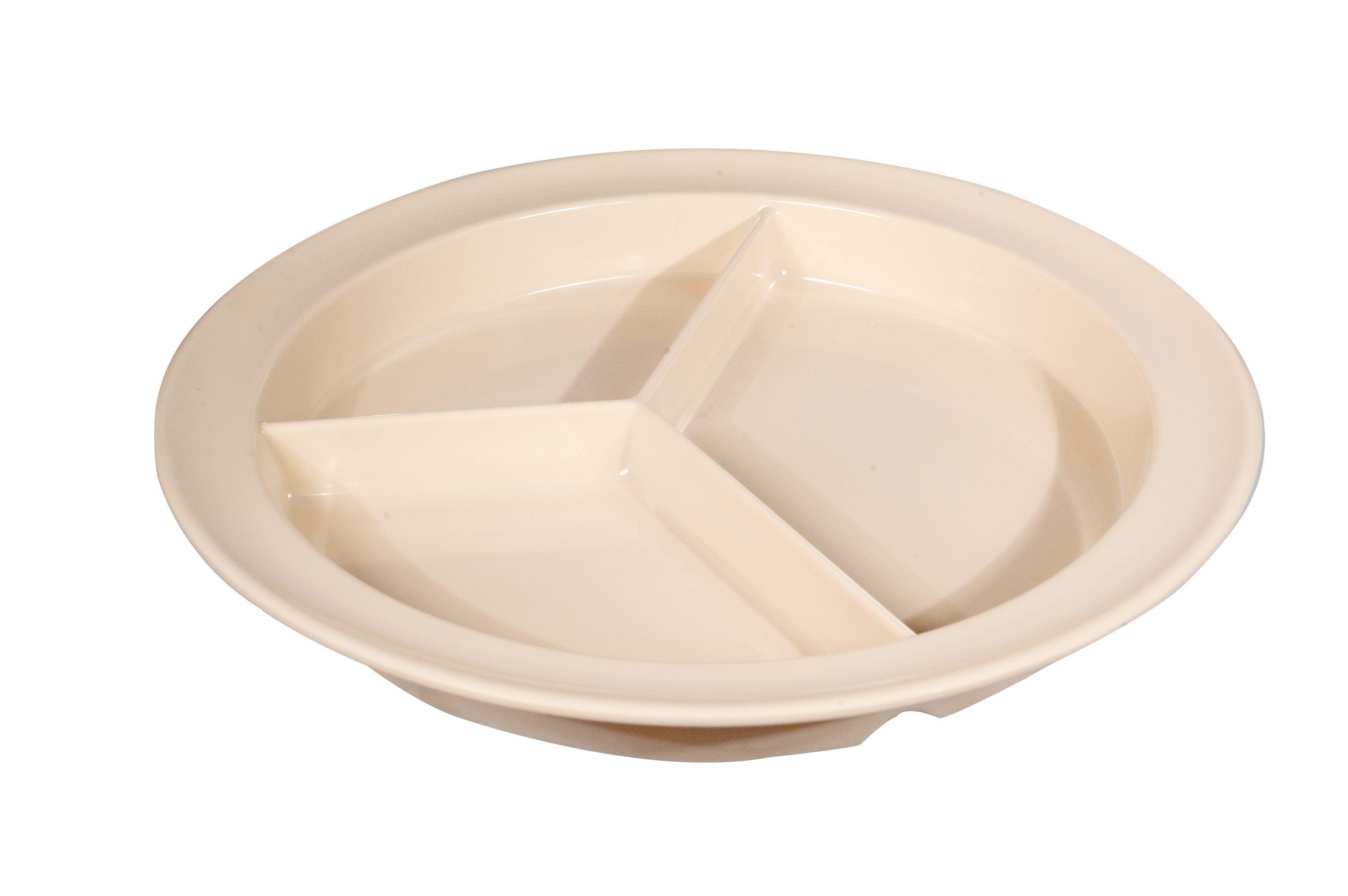 Three-Section Melamine Plate- 9-Inch Diameter