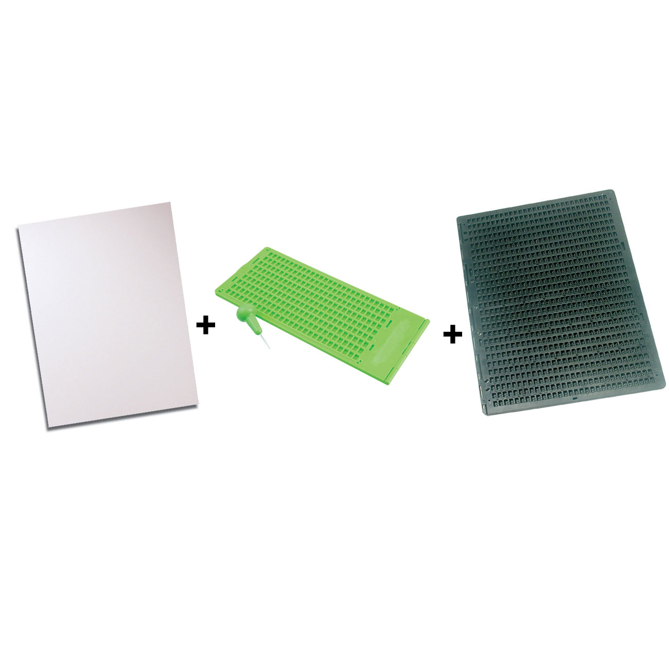 MaxiAids Braille Slates + Stylus + Paper Bundle