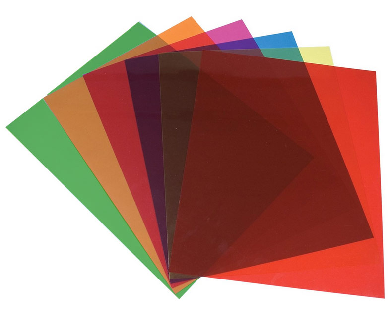 Tinted Plastic Reading Sheets, Set of 6