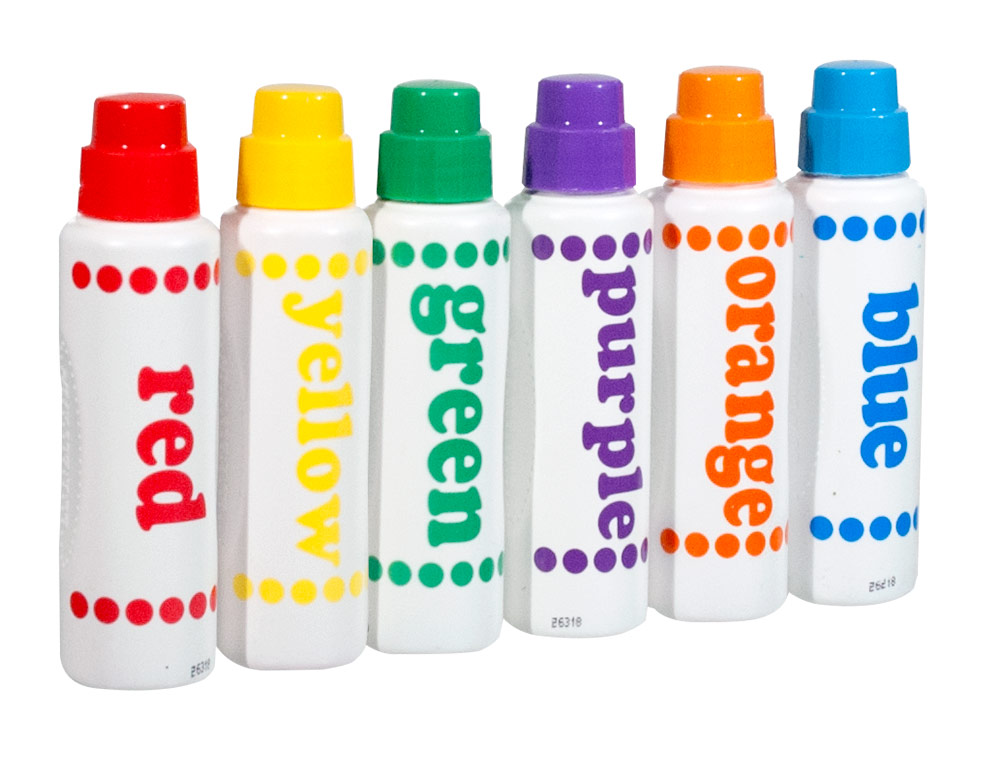 Do-A-Dot Art - 6 Sponge Tip Markers with Braille