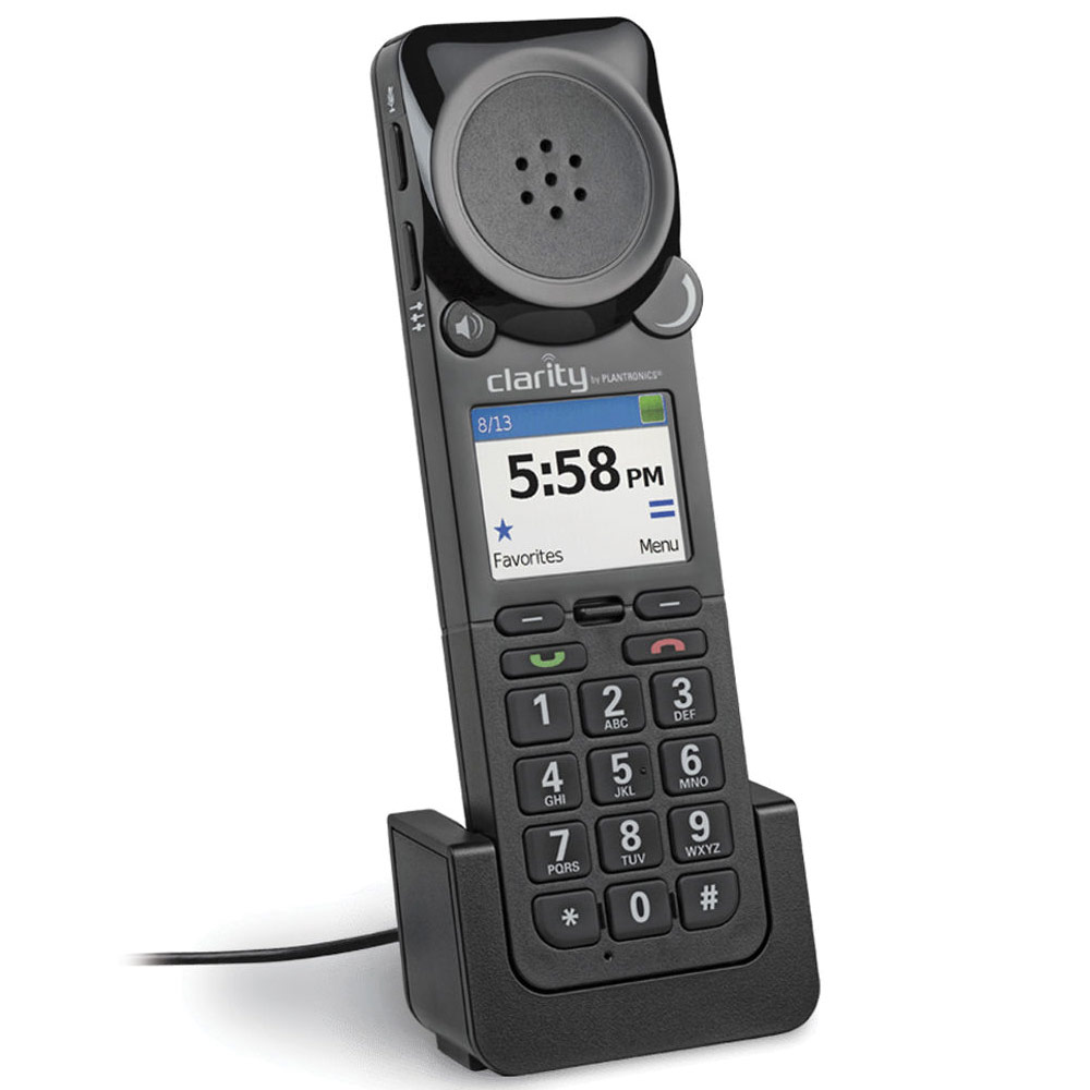 Clarity P-340-M Amplified UC Corded USB Handset Optimized for MS Lync