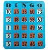 Easy Read Finger - Tip Bingo Card -Blue