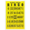 Giant Print Bingo Card - Black on Yellow Background
