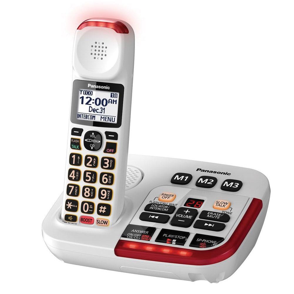 Panasonic KX-TGM420W Amplified Cordless Phone with Answering Machine