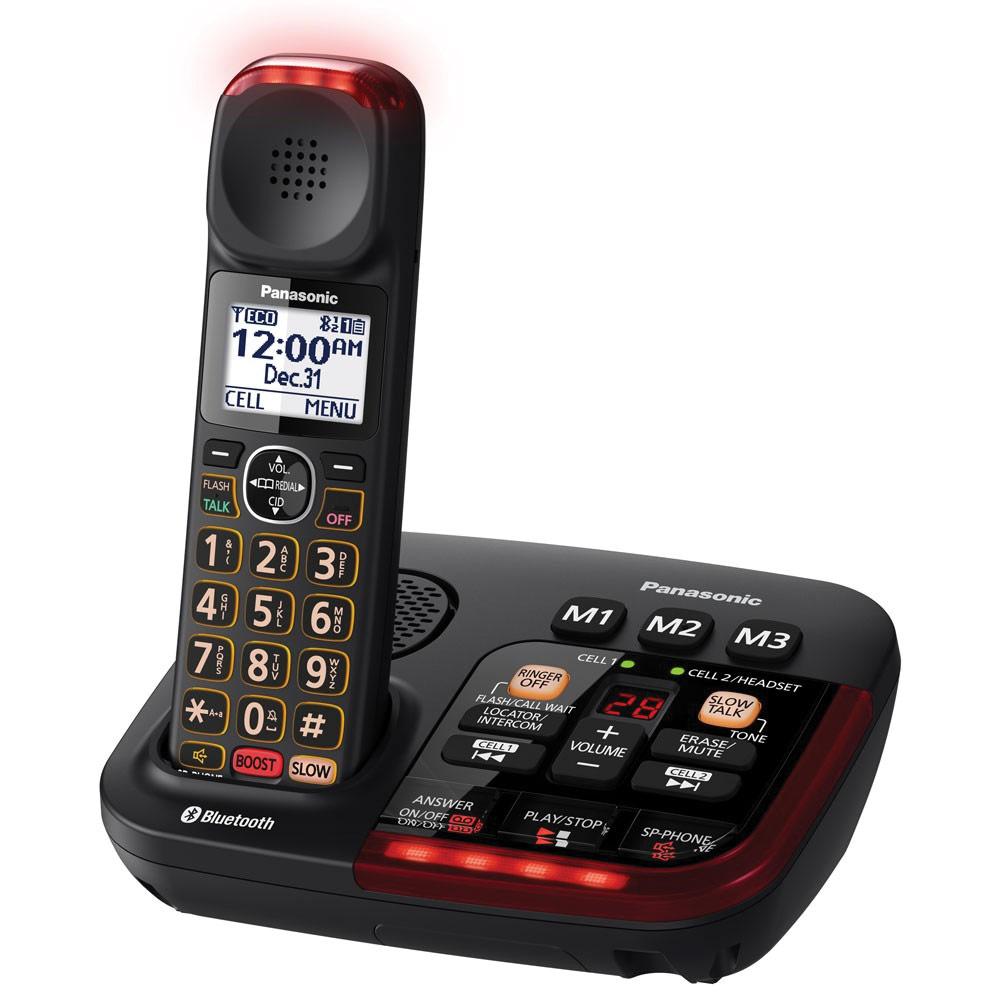 Panasonic KX-TGM430B Amplified Cordless Phone with Answering Machine