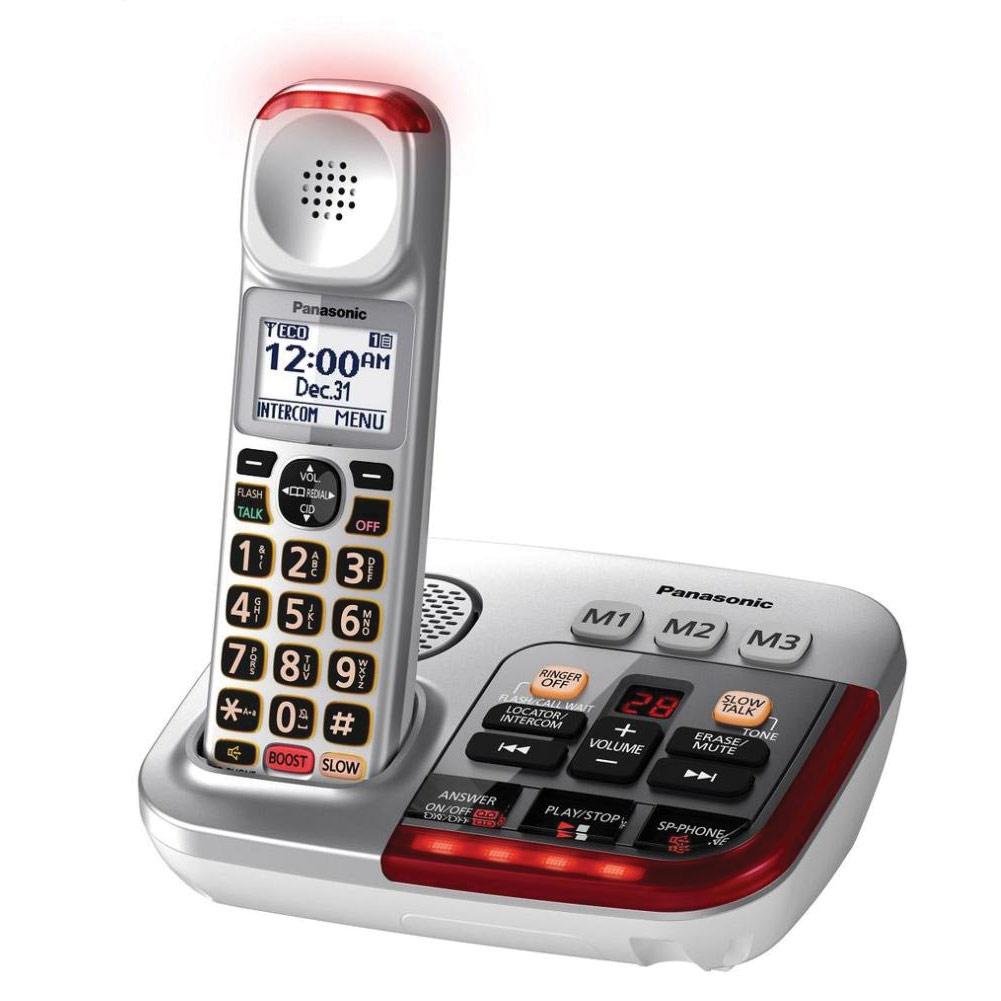 Panasonic KX-TGM450S Amplified Cordless Phone with Answering Machine