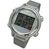VibraLITE 12 Vibration Watch- Silver-Stainless Steel