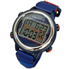VibraLITE 12 Vibration Watch- Blue-Red-Blue Band