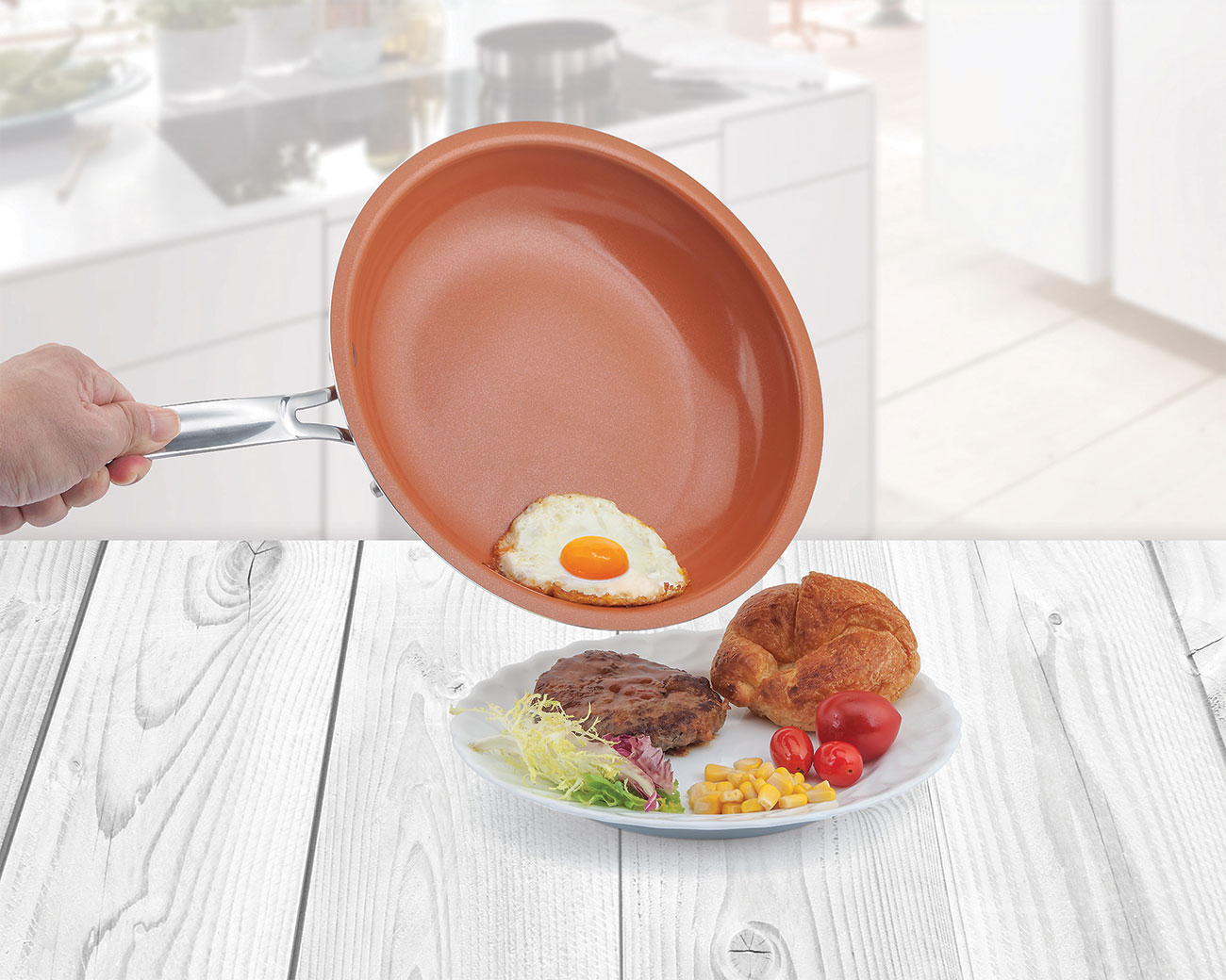 Copper Non-Stick Frying Pan - 10-inch
