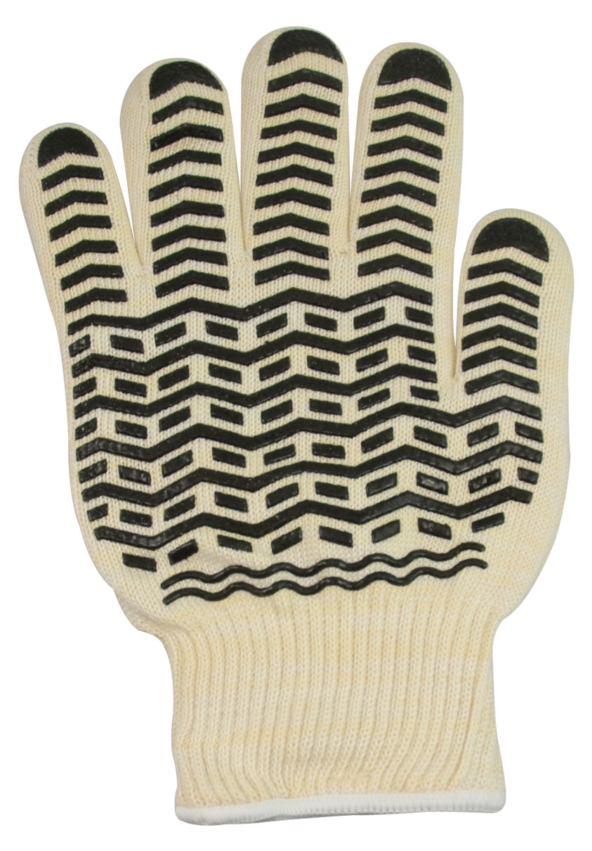 Oven Glove with Black Non-Slip Silicone Grip - XL