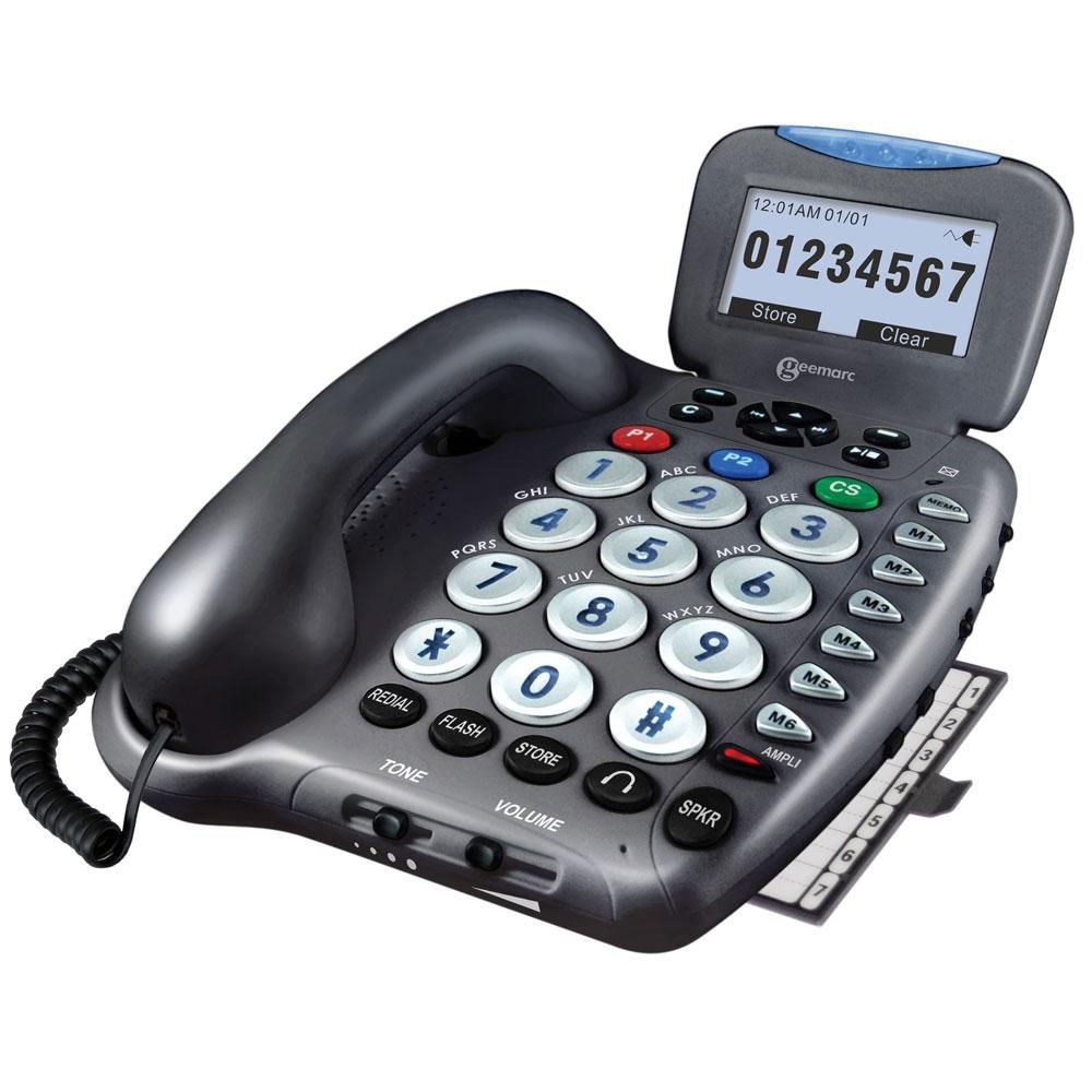 Geemarc Amplified Telephone Ampli555 w-Answering Machine, Talking Keys