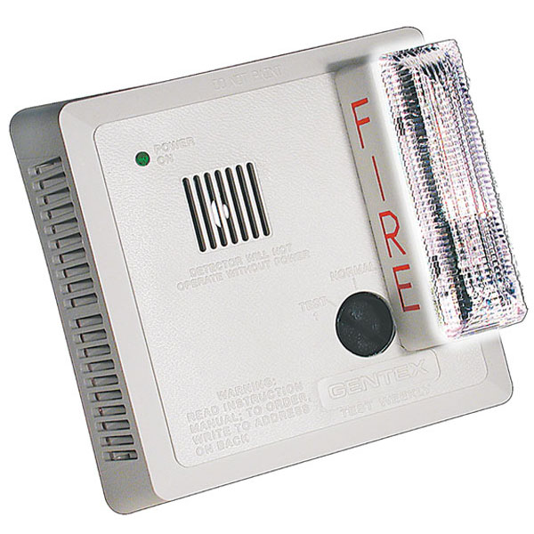 Photoelectric Smoke Alarm w-Visual Signaling Appliance - Wall Mount