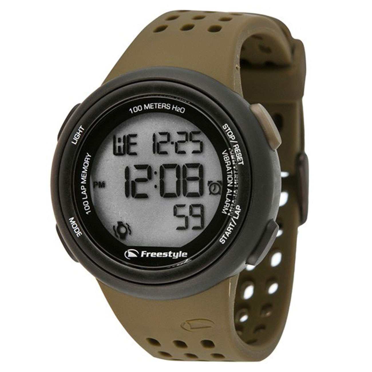 Freestyle FX Trainer Vibrating 100-Lap Digital Sports Watch - Olive