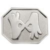 Hexagon-Shaped Pin with Interpreter Symbol - Silver