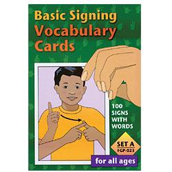 Basic Signing Vocabulary Cards - Set A -100 Cards