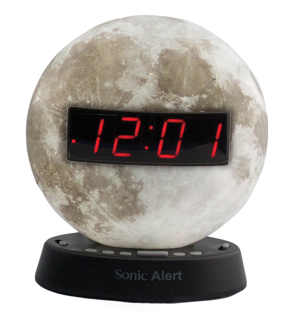The Sonic Glow Moonlight Alarm Clock with Recordable Alarm