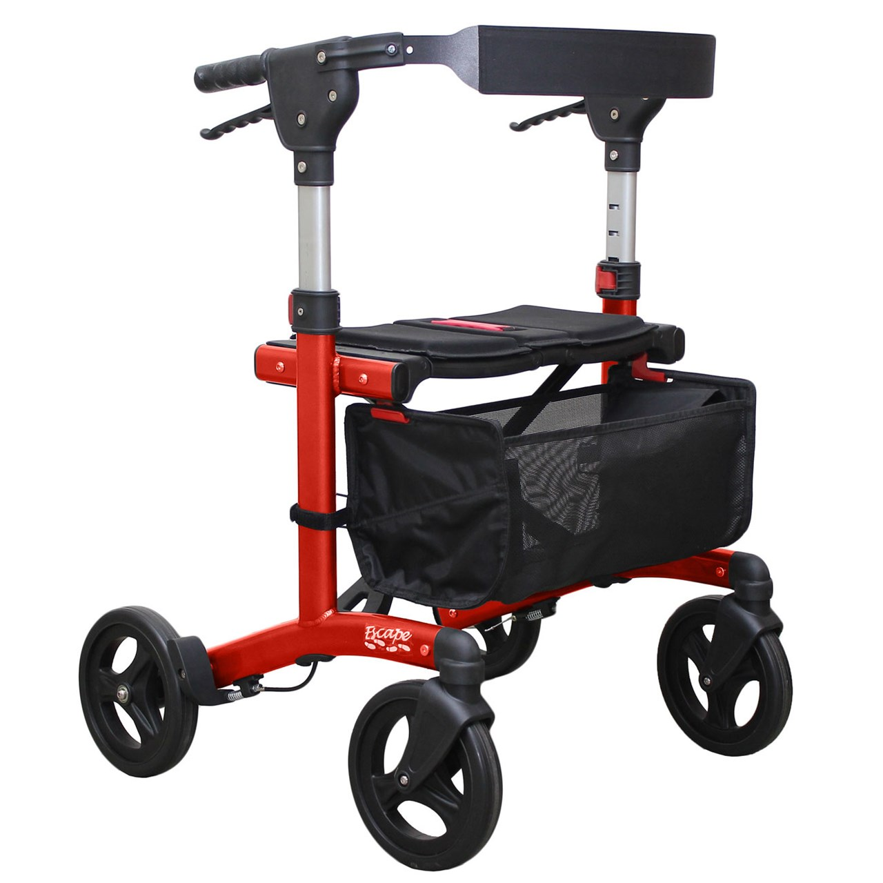 Escape Rollator - Super Low 19 in. Seat Height - Red