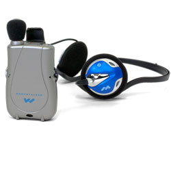 Pocketalker Ultra with Rear-Wear Headphones Price: $139.00