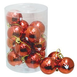 16 Small Red Ornaments with White ILY Price: $14.95