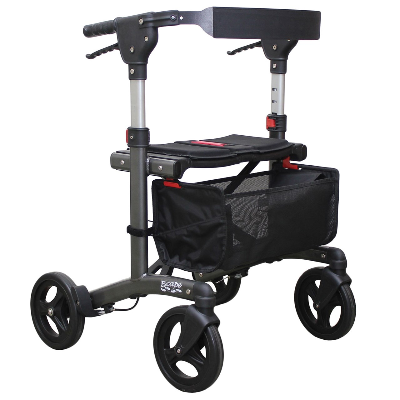 Escape Rollator - Standard 24 in. Seat Height - Charcoal