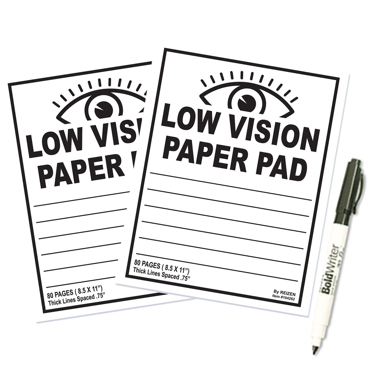 Low Vision Paper Notebooks - Set of 2
