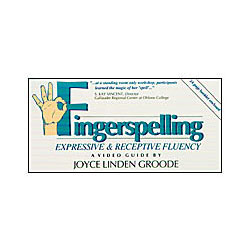 Fingerspelling- Expressive and Receptive Fluency -VHS