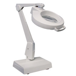 Dazor Weighted Base LED Magnifier - 3 Diopter