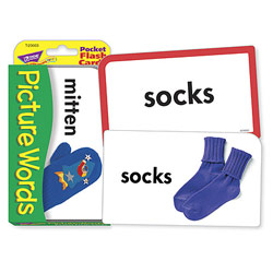 Low Vision Picture Words Pocket Flash Cards