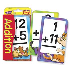Low Vision Addition Pocket Flash Cards