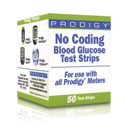 Test Strips for Prodigy Blood Glucose Monitors - 50 Strips