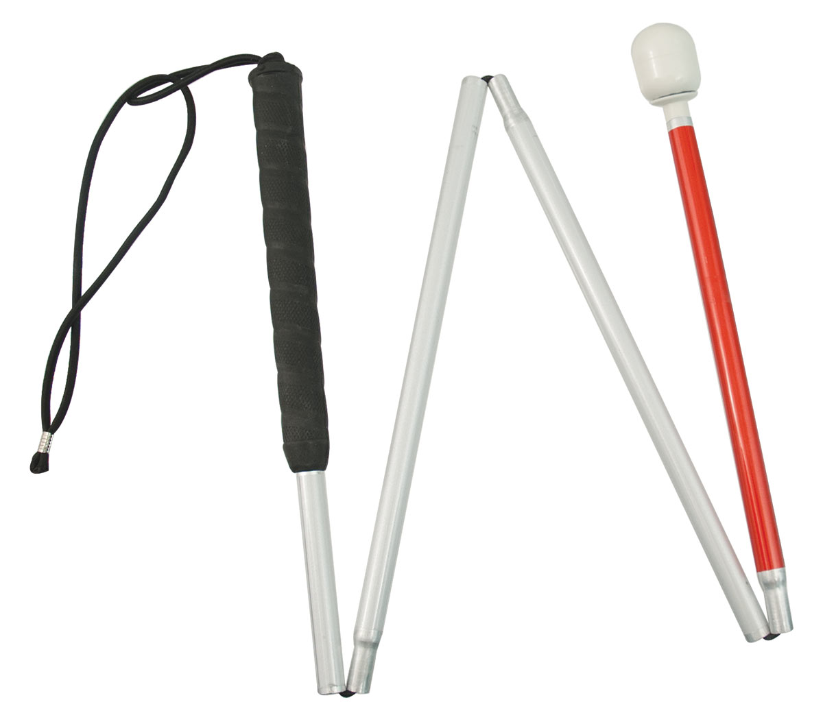Europa Folding Cane w- Marshmallow Hook Tip- 38-in. - click to view larger image