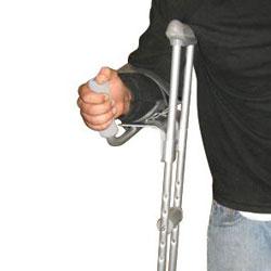 Bariatric Platform Walker and Aluminum Crutch Attachment - Set of 2