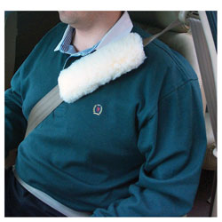 Synthetic Shearling Seatbelt Cover
