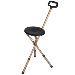 Folding Seat Cane - 250 lb Weight Capacity