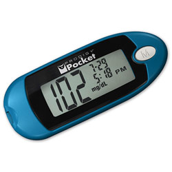 Prodigy Pocket Blood Glucose Meter Kit- Blue