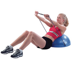 CanDo Exercise Core-Training 21-in. Vestibular Dome w-Resistance Cords