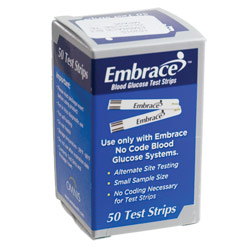 Embrace Blood Glucose Test Strips: 50 Strips Price: $15.95