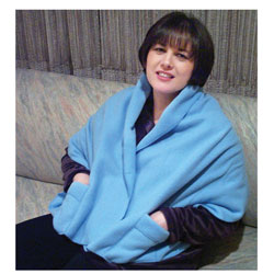 Polar Fleece Shawl Shoulder Cozy - Light Blue
