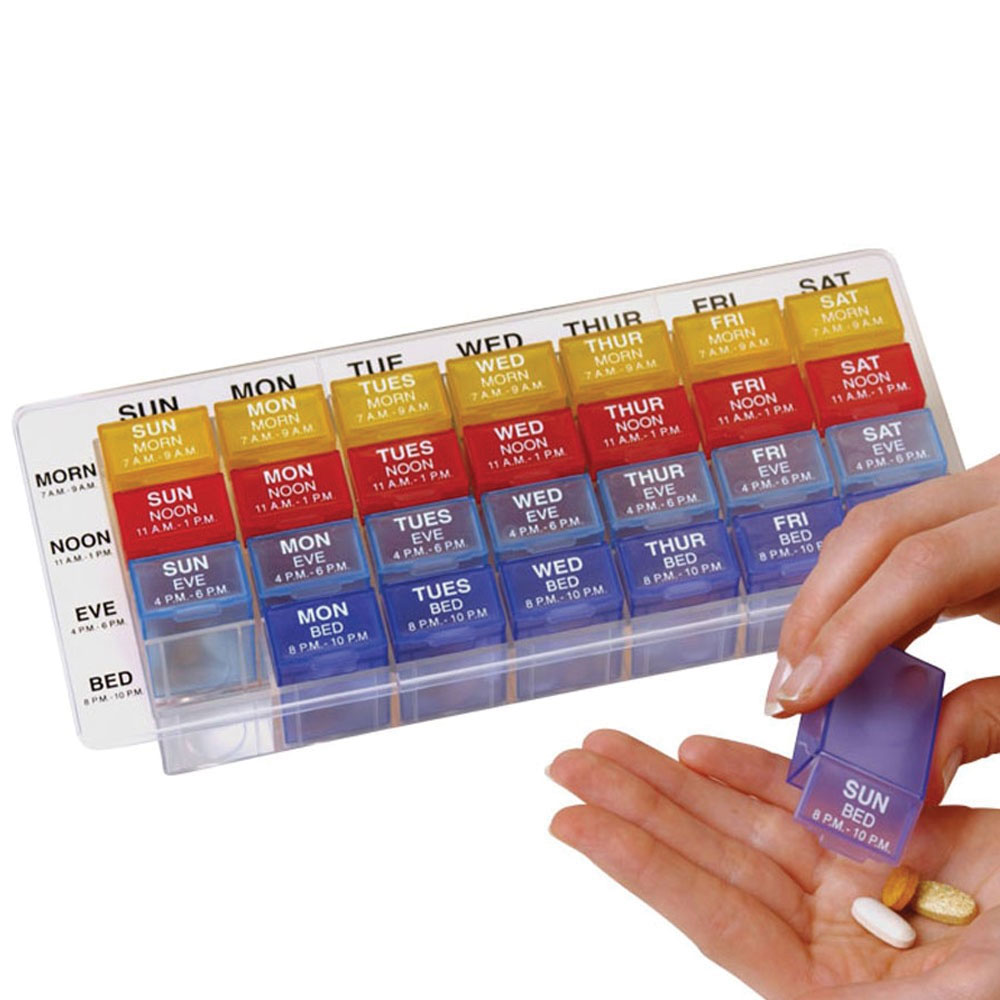 Weekly 4X-A-Day Med-Control Tray