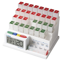 The MedCenter System - Talking Monthly Medication Organizer and Alarm Price: $69.95